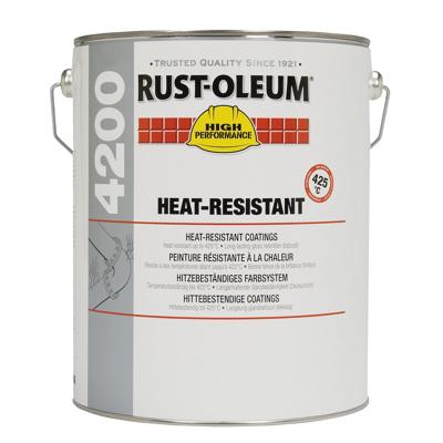 Rust Oléum Couche de fond haute température 425°C bidon 5 litres Rust Oléum