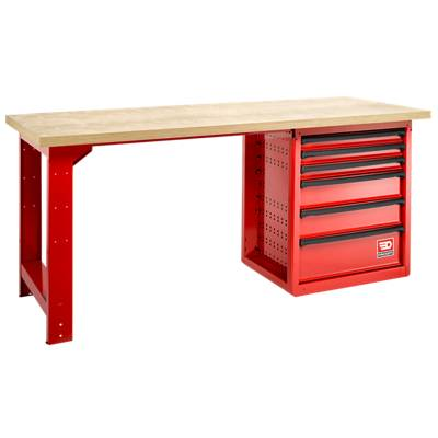 Facom Etabli de maintenance - 6 tiroirs, plateau bois - 2 mètres Facom