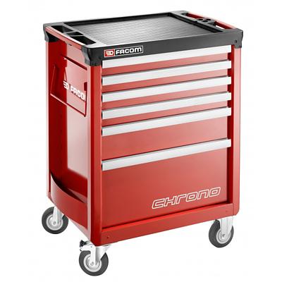 Facom Servante 6 tiroirs CHRONO.6M3APB - Rouge Facom