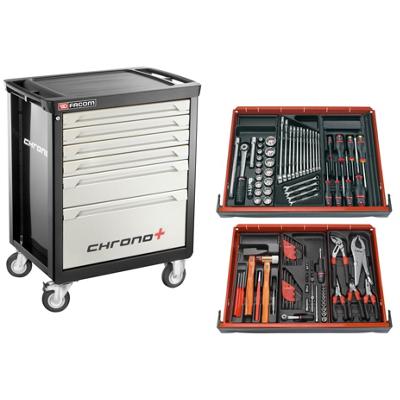 Facom Servante Chrono XL 6 tiroirs équipée de 110 outils Facom