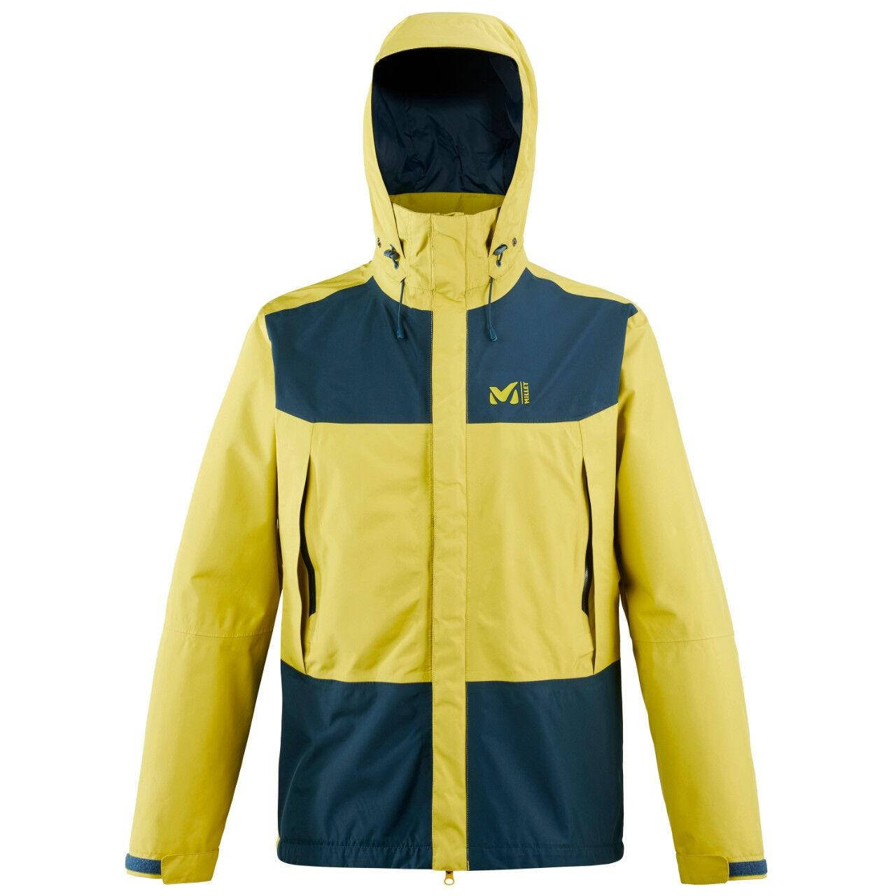 MILLET Veste de Randonnée Grand Montet GTX Jacket - Wild Lime Orion Blue