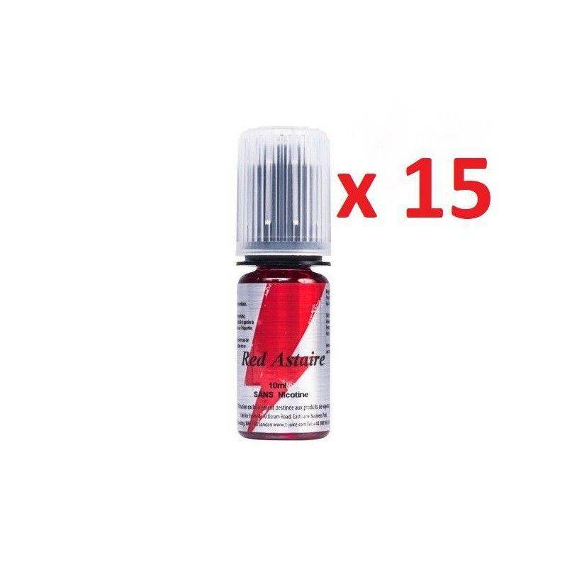 T JUICE E-liquide Red Astaire 15 X 10 ml T-JUICE