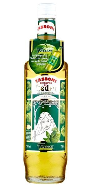 TASSONI Sirop de cédrat Tassoni 72 cl