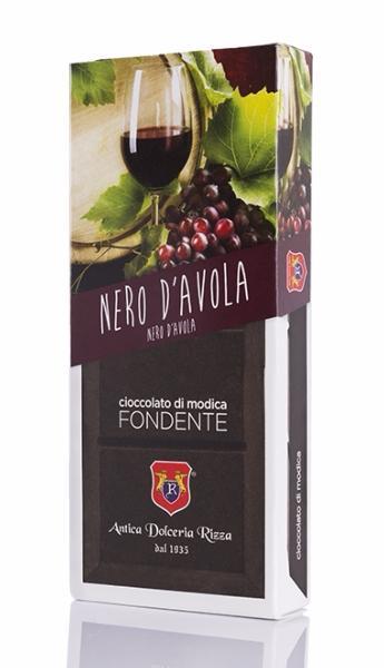 ANTICA DOLCERIA RIZZA Chocolat de Modica au Nero d'Avola 100 gr