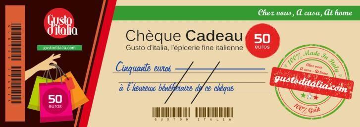 GUSTO d'ITALIA Chèque-Cadeau Gusto d'Italia 50 €