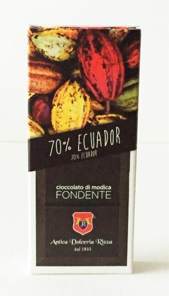 ANTICA DOLCERIA RIZZA Chocolat de Modica 70% cacao 100 gr
