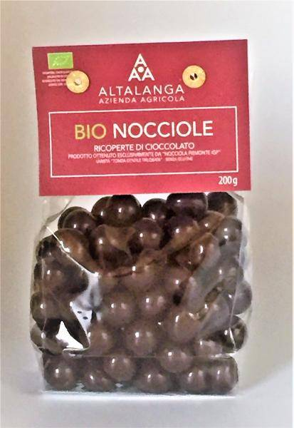 ALTALANGA Noisettes Piémont au chocolat noir BIO 200 gr