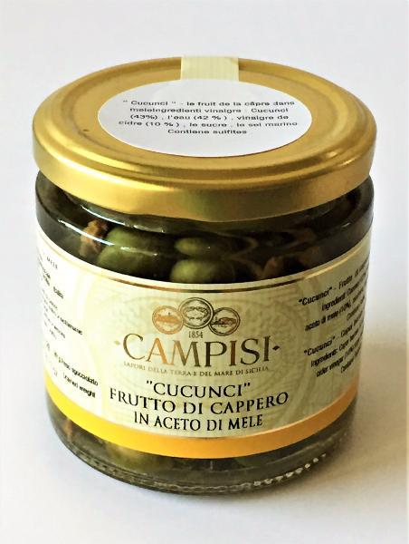 CAMPISI Fruits du câprier au vinaigre de pomme 230 gr
