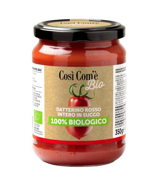 COSì COM'È Tomates rouges Datterino dans leur jus BIO 350 gr