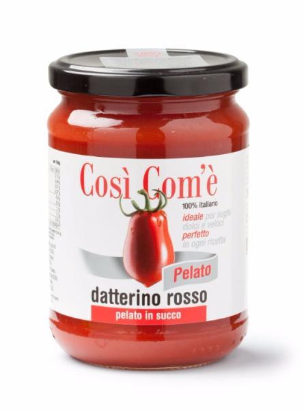 COSì COM'È Tomates rouges Datterino pelées au jus 350 gr