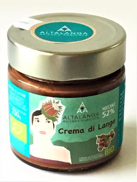 ALTALANGA Pâte à tartiner chocolat/noisettes Piémont BIO 230 gr