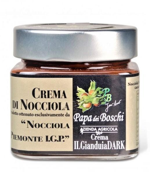 PAPA DEI BOSCHI Pâte à tartiner chocolat noir/noisettes Piémont 250 gr
