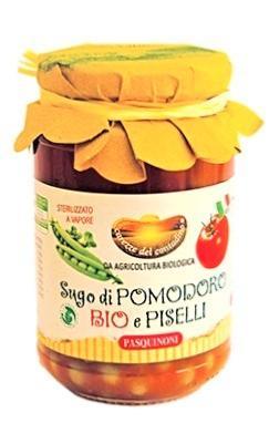 PASQUINONI Sauce tomate aux petits pois BIO 340 gr