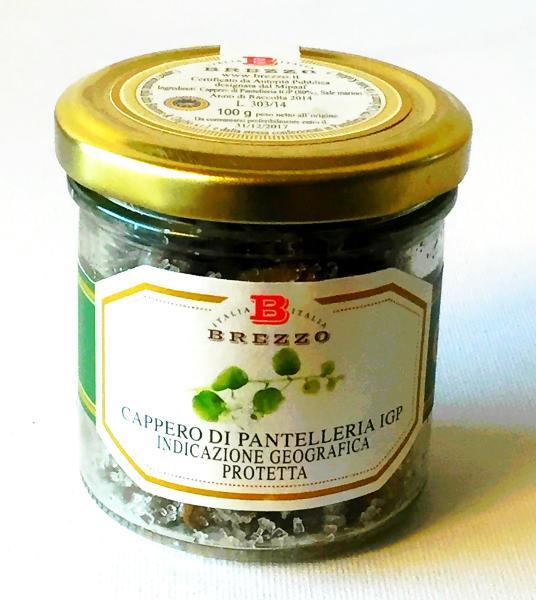 BREZZO Câpres de Pantelleria IGP au sel marin (moyenne) 100 gr