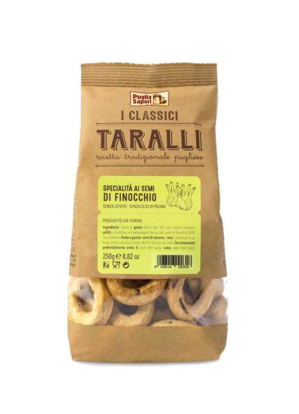 PUGLIA SAPORI Taralli au fenouil 250 gr