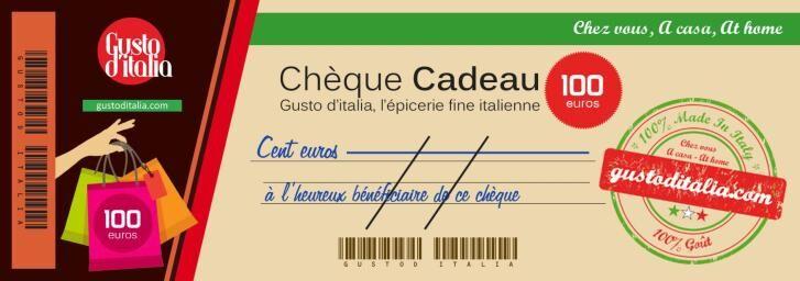 GUSTO d'ITALIA Chèque-Cadeau Gusto d'Italia 100 €