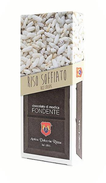 ANTICA DOLCERIA RIZZA Chocolat de Modica au riz soufflé 100 gr