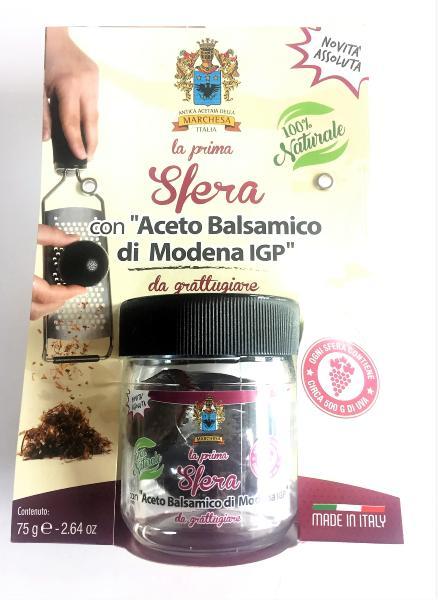 ACETAIA TERRA DEL TUONO Boule de vinaigre balsamique à râper 75 gr