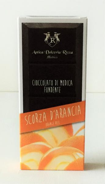 ANTICA DOLCERIA RIZZA Chocolat de Modica à l'écorce d'orange 100 gr