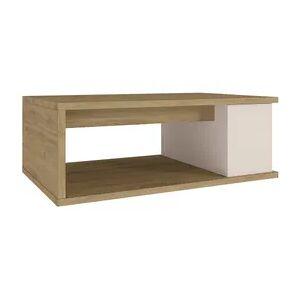 BUT Table basse plateau relevable DESPACITO Imitation chêne et Blanc