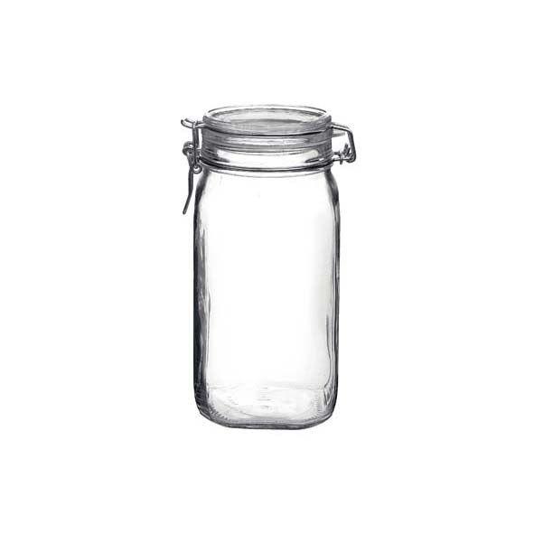 Bormioli Rocco Bocal hermétique carré 1.5 L en verre pour terrine - Fido - Bormioli Rocco