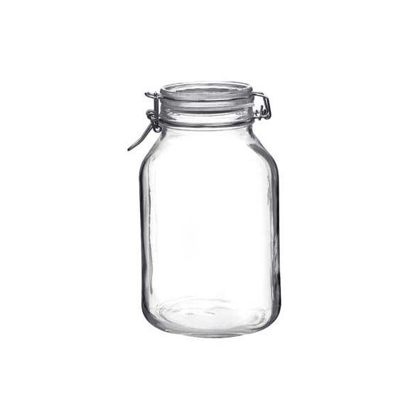Bormioli Rocco Bocal hermétique carré 3 L en verre pour terrine - Fido - Bormioli Rocco