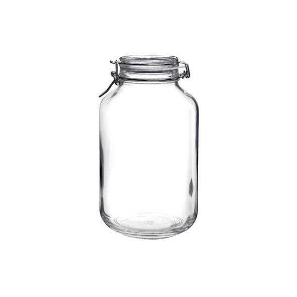 Bormioli Rocco Bocal hermétique rond 4 L en verre pour terrine - Fido - Bormioli Rocco