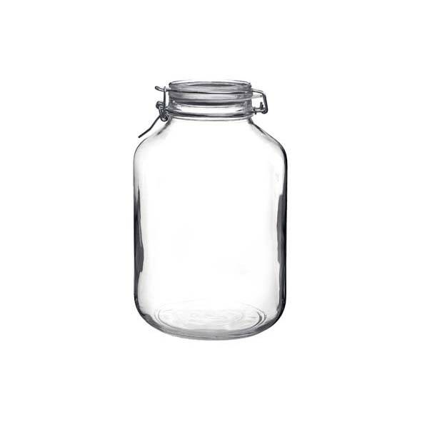 Bormioli Rocco Bocal hermétique rond 5 L en verre pour terrine - Fido - Bormioli Rocco