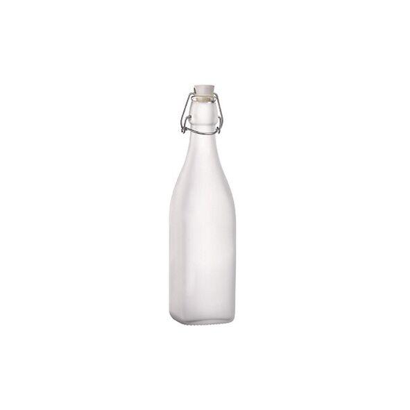 Bormioli Rocco Bouteille en verre satiné 0,50 L avec bouchon mécanique - Swing - Bormioli Rocco