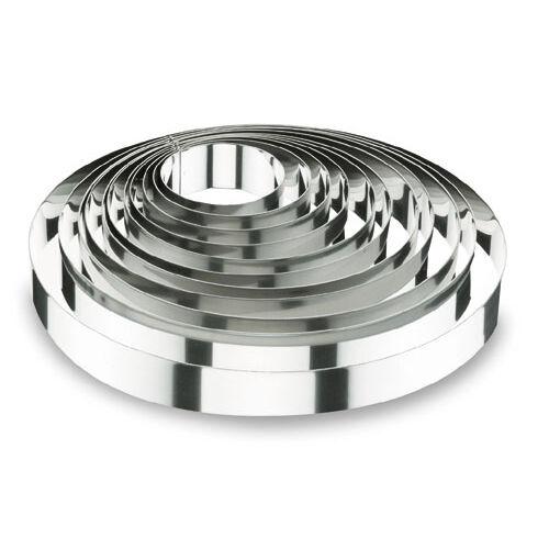 Lacor Cercle à mousse en inox 18/10 - hauteur 4,5cm - diamètre 10cm - Cercle à mousse - Lacor