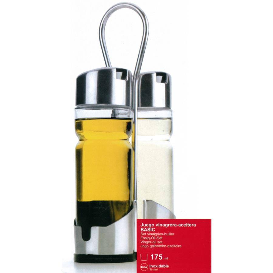 Lacor Ménagère 2 pièces huile et vinaigre - Basic - Lacor