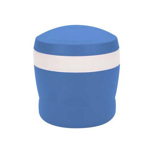 Thermos Porte aliment isotherme avec cuillère pliable 24cl bleu - Snack Jar - Thermos