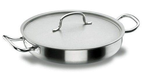 Lacor Poêle à paëlla induction avec couvercle inox 18/10 - Ø 32 cm - Chef Classic - Lacor