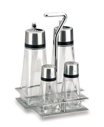 Lacor Ménagère 4 pièces sel, poivre, huile et vinaigre - Hyperluxe - Lacor