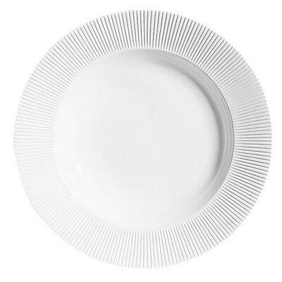 Chef & Sommelier Assiette creuse ronde 23cm en porcelaine blanche reliefs lignes droites et épurées - Ginseng - Chef & Sommelier