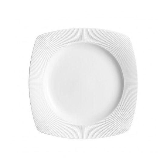 Chef & Sommelier Assiette plate carrée 15cm en porcelaine blanche reliefs lignes droites et épurées - Ginseng - Chef & Sommelier