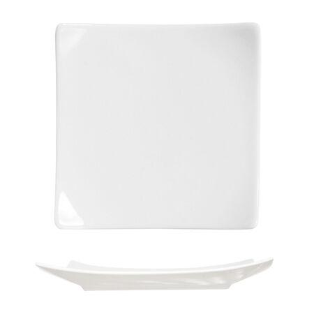 Cosy & Trendy Assiette plate carrée 18x18cm blanche en porcelaine - A l'unité - Tokio - Cosy & Trendy