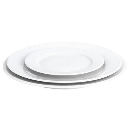 Pillivuyt Assiette plate ronde blanche 31,5cm en porcelaine - Sancerre - Pillivuyt