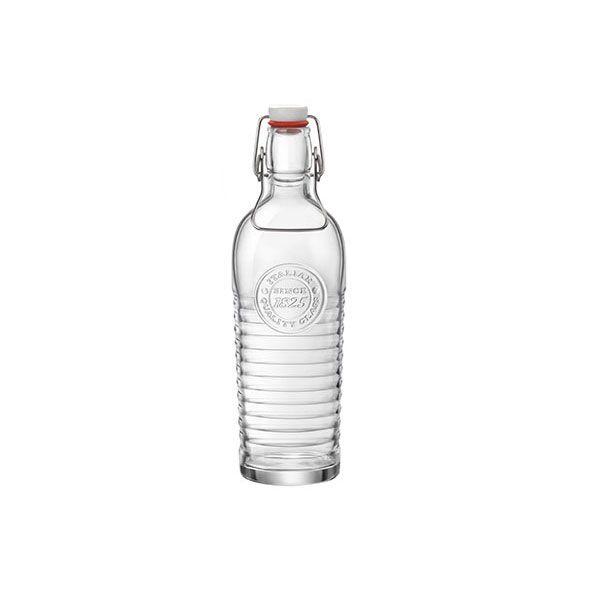 Bormioli Rocco Bouteille en verre transparent avec bouchon mécanique 1.2 L - Officina 1825 - Bormioli Rocco
