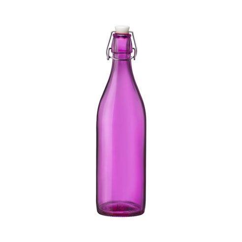 Bormioli Rocco Bouteille en verre 1 L fushia avec bouchon mécanique 8 x 8 x 32 cm - Giara - Bormioli Rocco