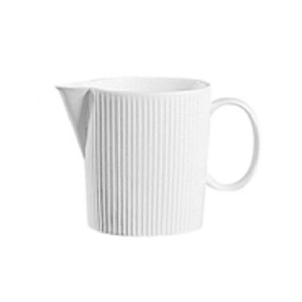 Chef & Sommelier Crémier en porcelaine blanche 22cl avec motif lignes droites en relief - Ginseng - Chef & Sommelier
