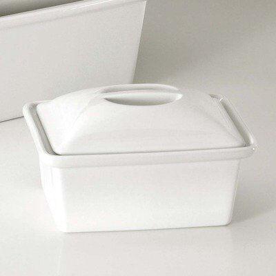 Pillivuyt Gîte à pâté rectangulaire avec couvercle blanc 240cl en porcelaine - Collection Générale - Pillivuyt