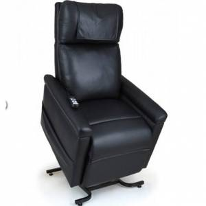 Fauteuil relax releveur 2 moteurs noir simili cuir ou velours noir grandes tailles Maxi Flex - Publicité