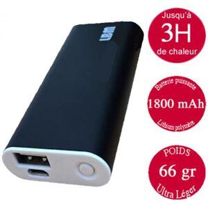 Chaufferette électrique noire rechargeable avec port USB - Publicité
