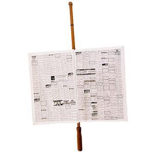 FAYET Porte-Journal en bois de hêtre véritable - Publicité