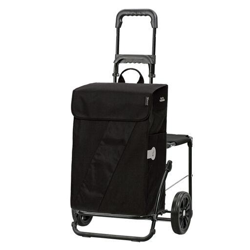 Chariot de courses avec poche isotherme et Siège intégré