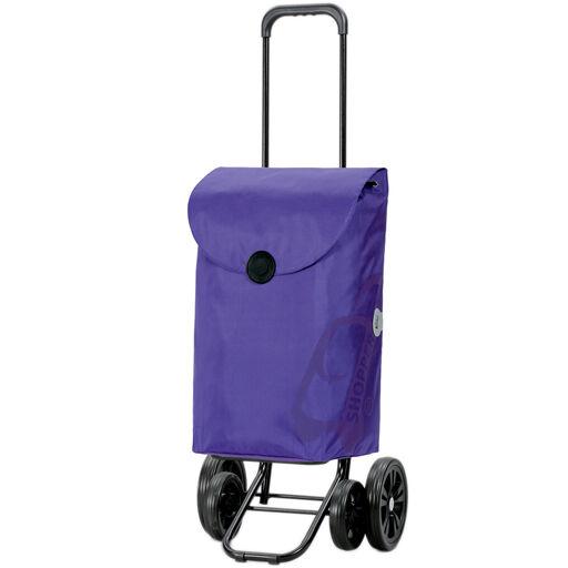 Chariot de Courses Bleu, Violet ou Rouge 49L 4 roues