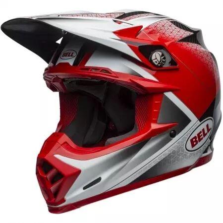 bell casque bell moto-9 flex hound noir rouge blanc