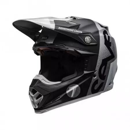 bell casque bell moto-9 flex seven galaxy noir argent