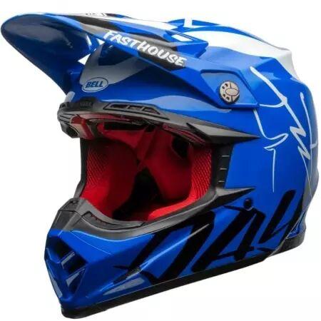 bell casque bell moto-9 flex fasthouse did 20 bleu blanc